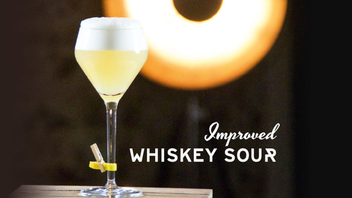 Improved Whiskey Sour, Belle Booze Box